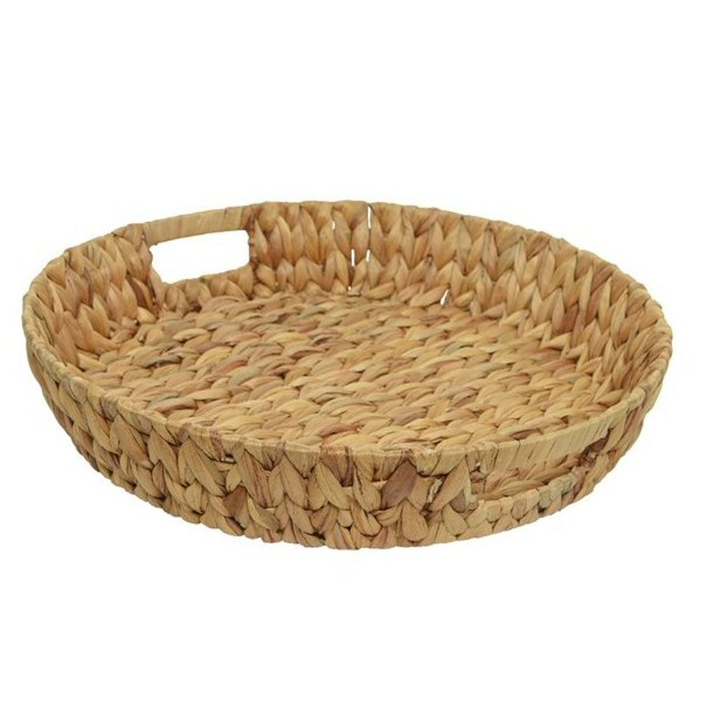 Kaemingk 45cm Water Hyacinth Round Basket