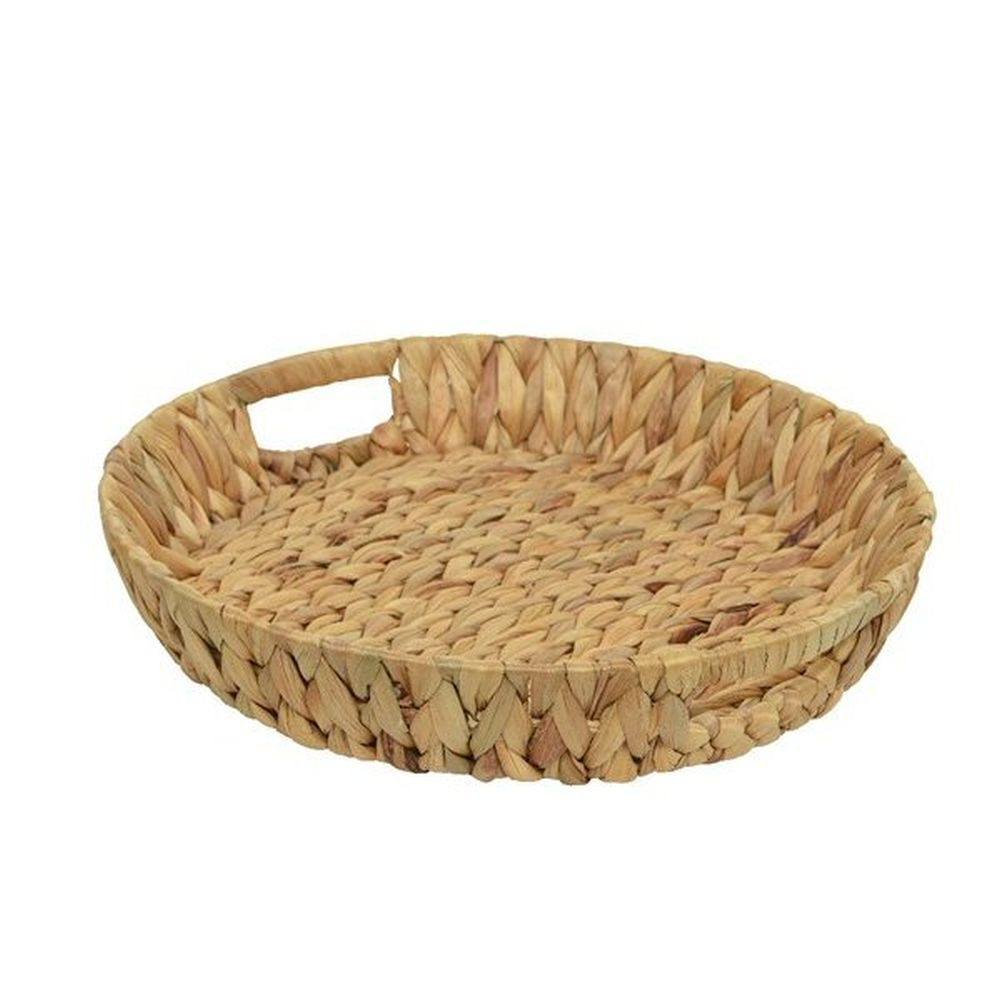 Kaemingk 40cm Water Hyacinth Round Basket