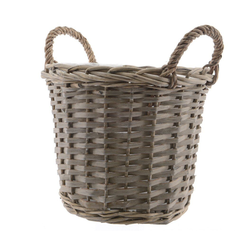 Kaemingk Round Willow Basket with Handle