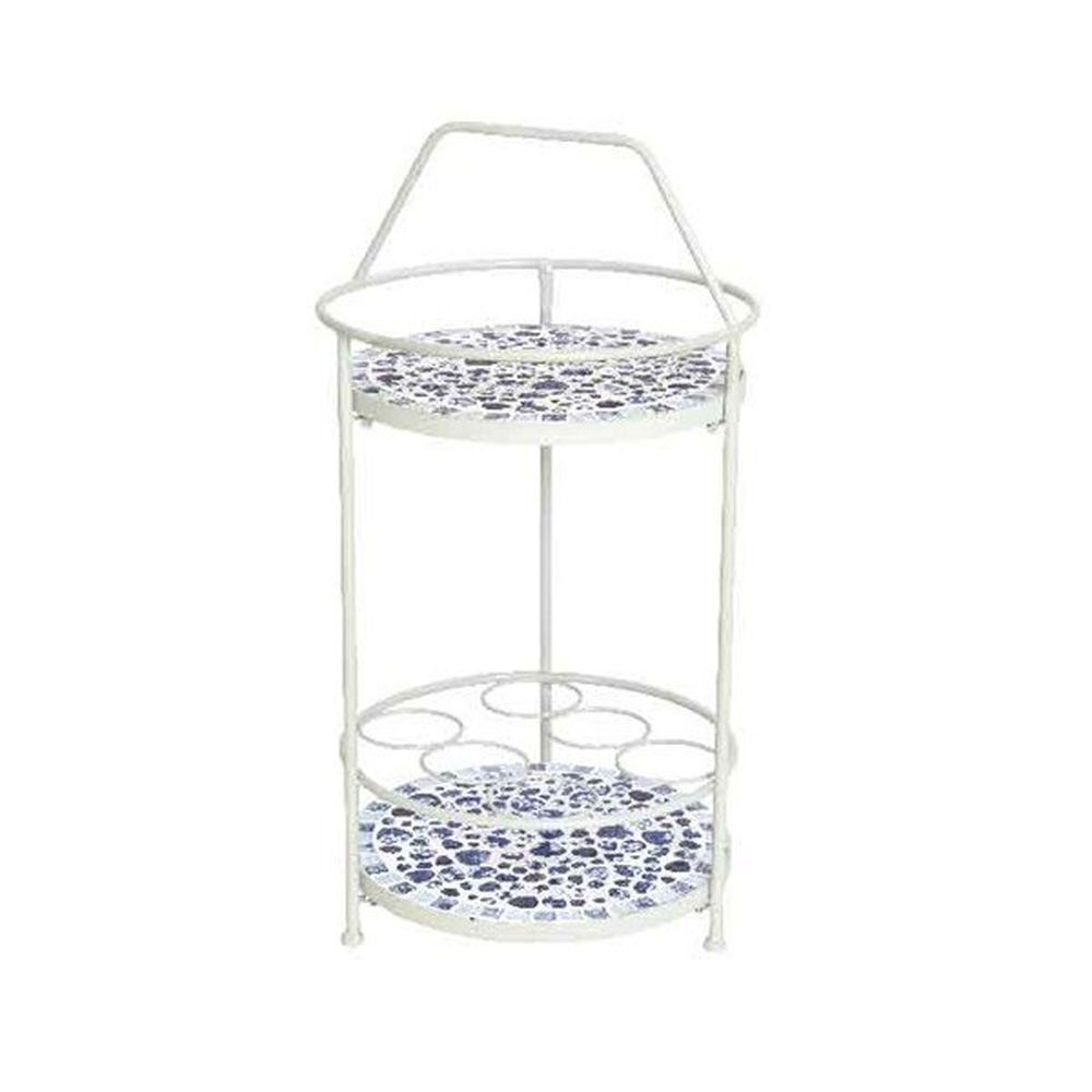 Kaemingk 76cm Blue and White Mosaic Wine Rack