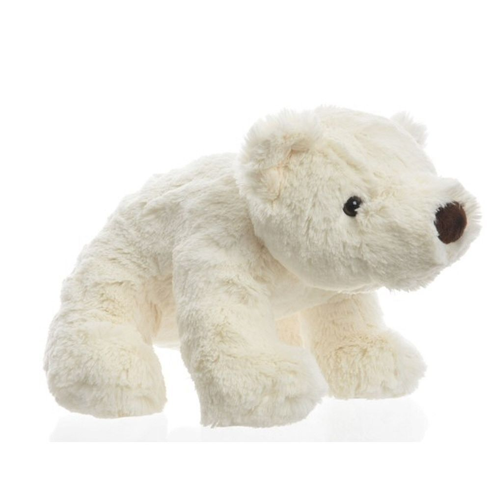 Decoris 34cm White PES Polar Bear