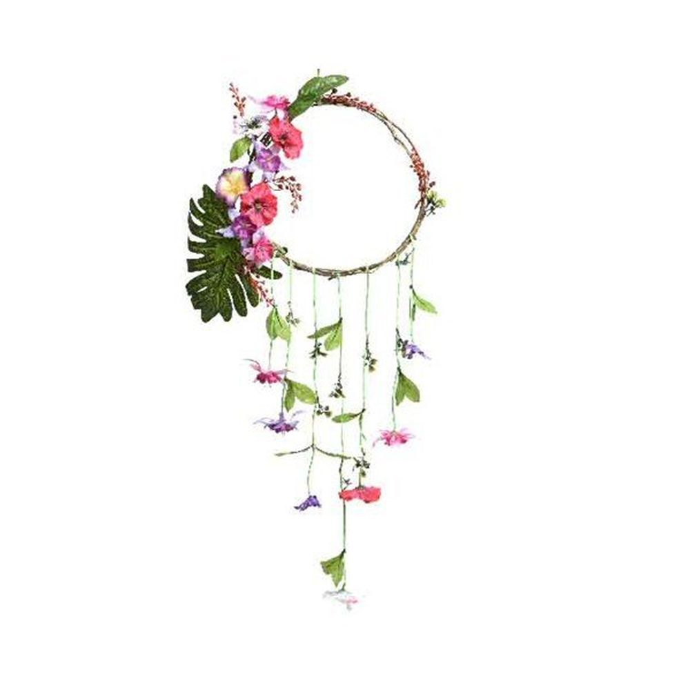 Kaemingk 78cm Twig Wreath with Flowers