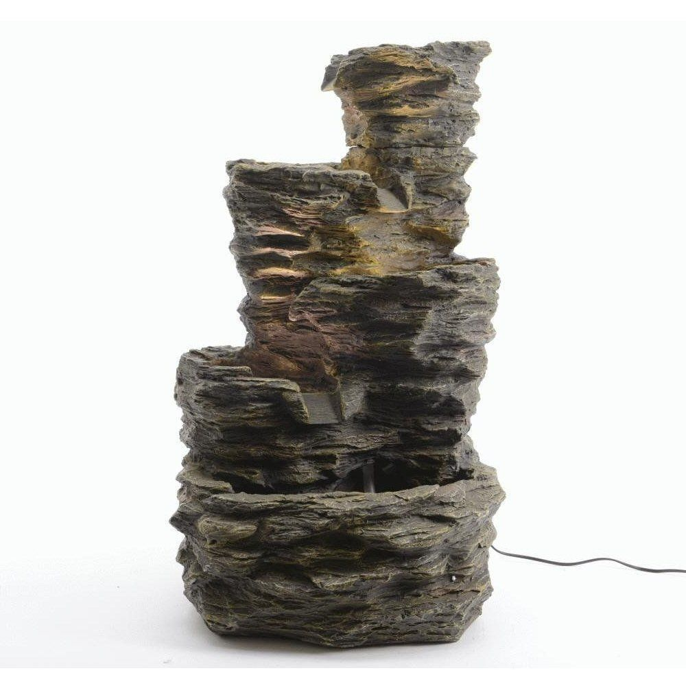 Kaemingk 75cm LED 5 Tier Rock Fountain Water Feature - 896459