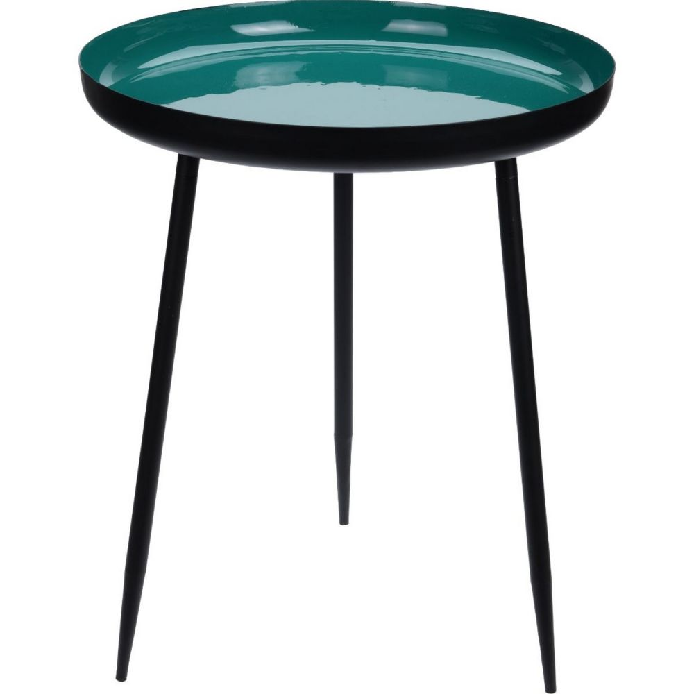 Table Round 49cm Teal