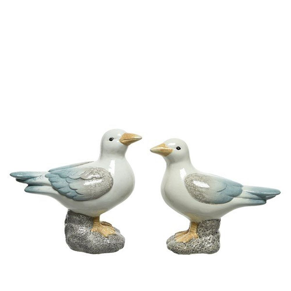 Kaemingk 19cm Terracotta Seagull Ornament (Choice of 2)