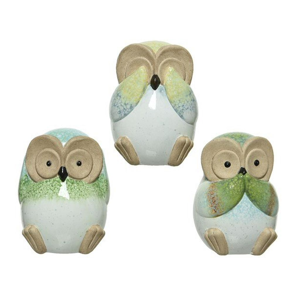 Kaemingk 13.5cm Sitting Terracotta Owl Ornament (Choice of 3)
