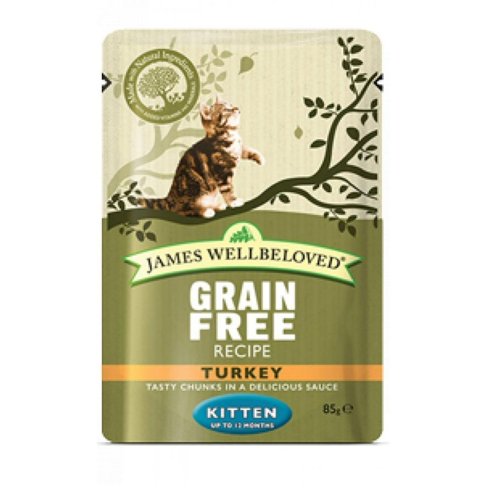 James Wellbeloved 12 x 85g Turkey Kitten Cat Food Pouches