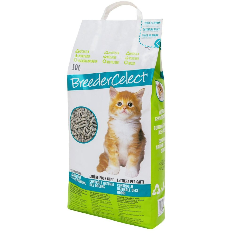 Breeder Celect Recycled Paper Non-Clumping Cat Litter 10Ltr