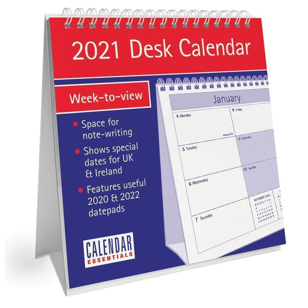 Essential 2021 Desk Calendar