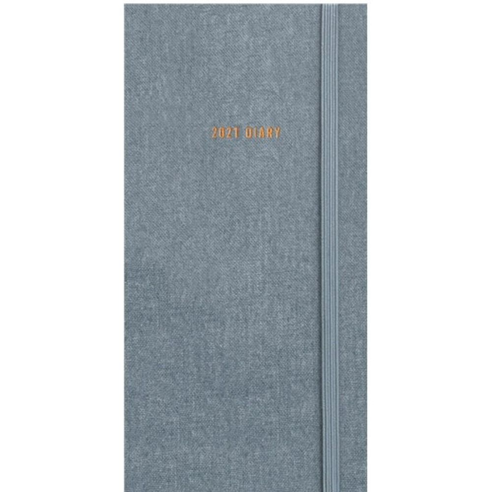 2021 Charcoal Soft Touch Slim Diary