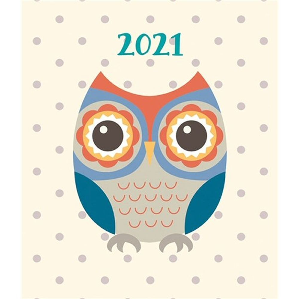 2021 A7 Fashion Owl Square Pocket Diary